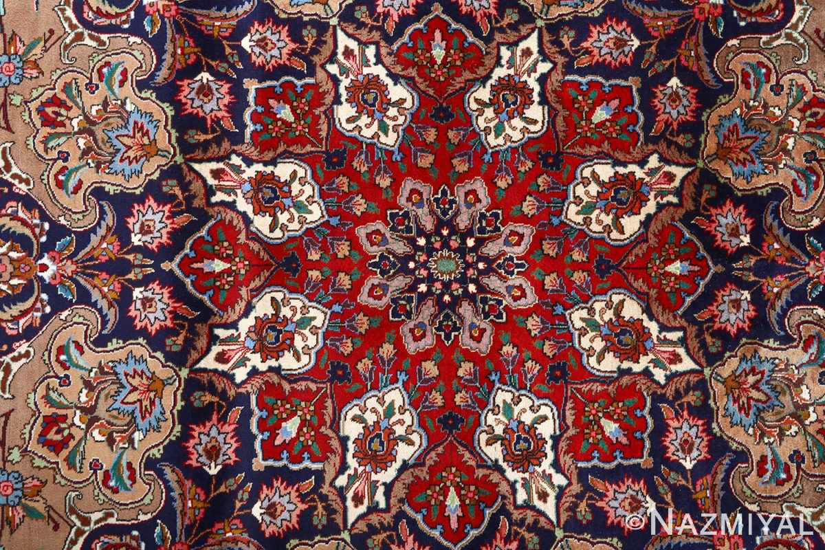 fine large vintage tabriz persian rug 51040 medallion Nazmiyal