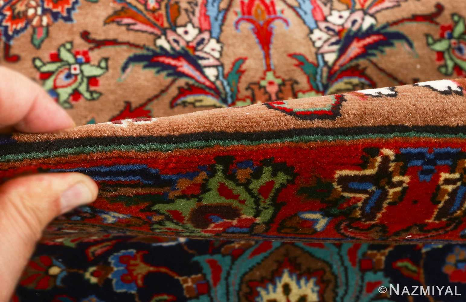 fine large vintage tabriz persian rug 51040 pile Nazmiyal