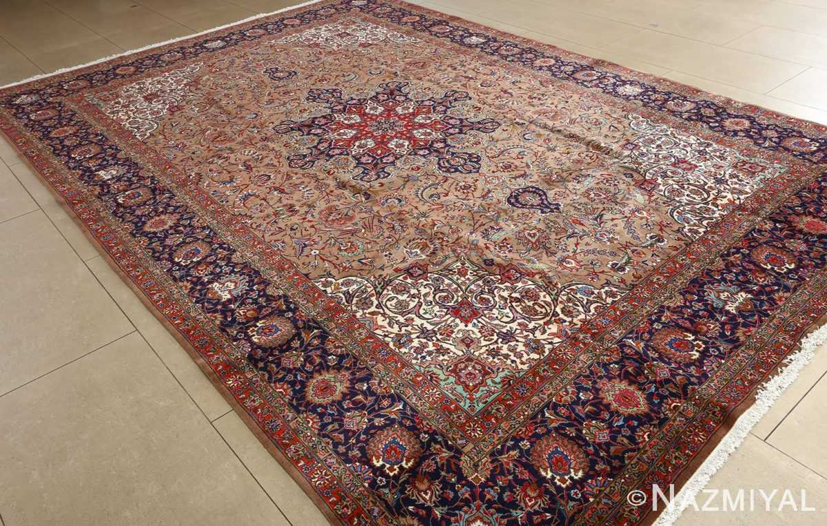 fine large vintage tabriz persian rug 51040 side Nazmiyal
