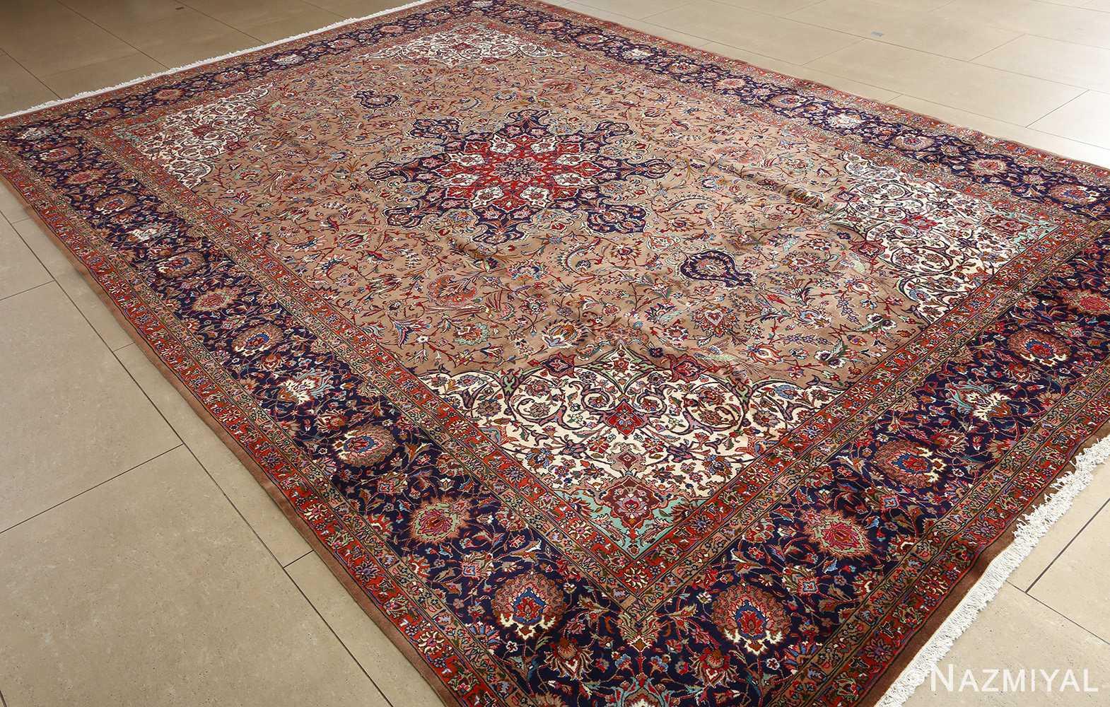 fine large vintage tabriz persian rug 51040 side Nazmiyal