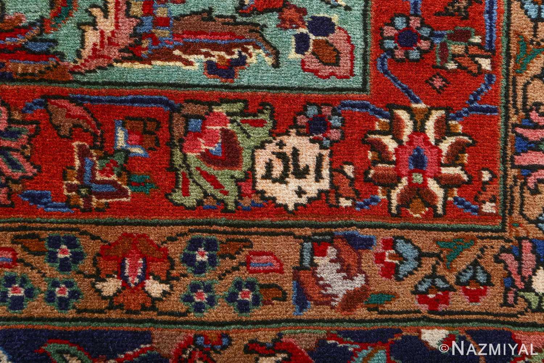 fine large vintage tabriz persian rug 51040 signature Nazmiyal