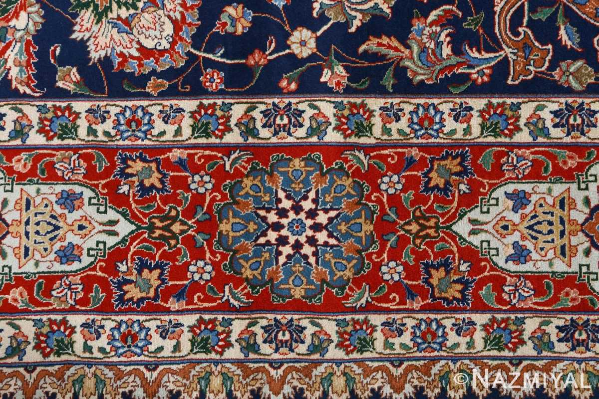 fine navy background vintage tabriz persian rug 51038 border Nazmiyal
