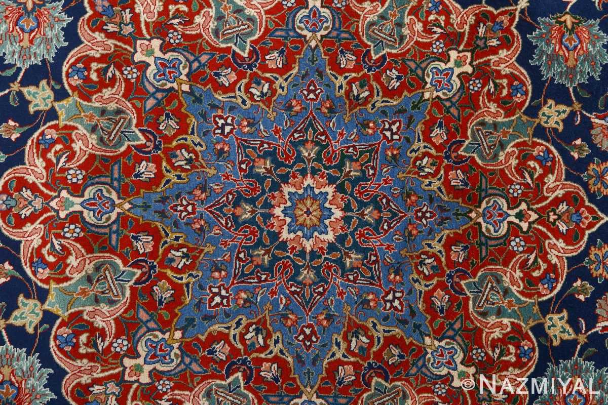 fine navy background vintage tabriz persian rug 51038 center Nazmiyal
