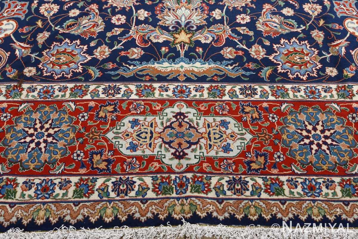 fine navy background vintage tabriz persian rug 51038 fringe Nazmiyal