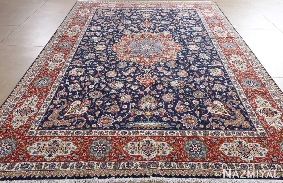 fine navy background vintage tabriz persian rug 51038 full Nazmiyal