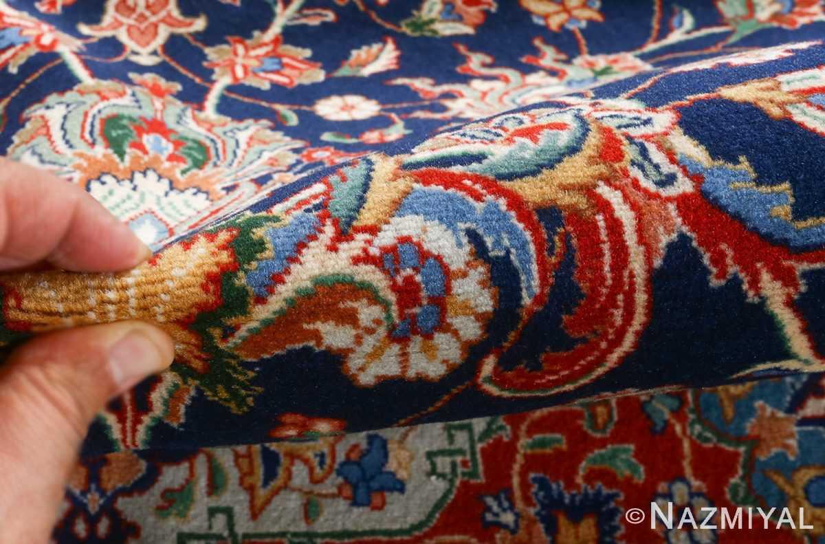 fine navy background vintage tabriz persian rug 51038 pile Nazmiyal