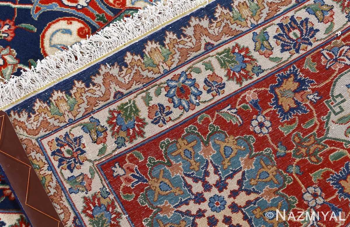 fine navy background vintage tabriz persian rug 51038 weave Nazmiyal
