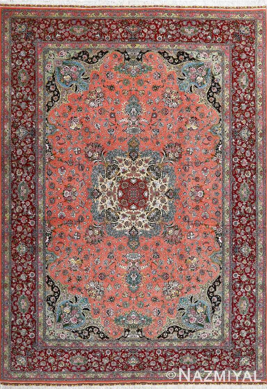 Fine Floral Vintage Room Size Persian Tabriz Rug #51025 by Nazmiyal Antique Rugs