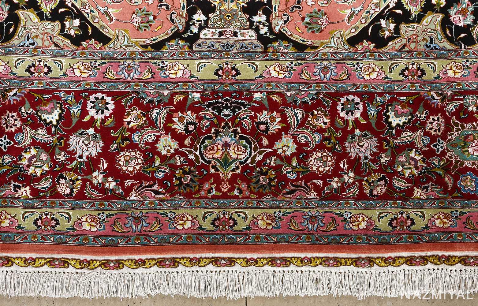 fine pournami vintage tabriz persian rug 51025 nazmiyal border