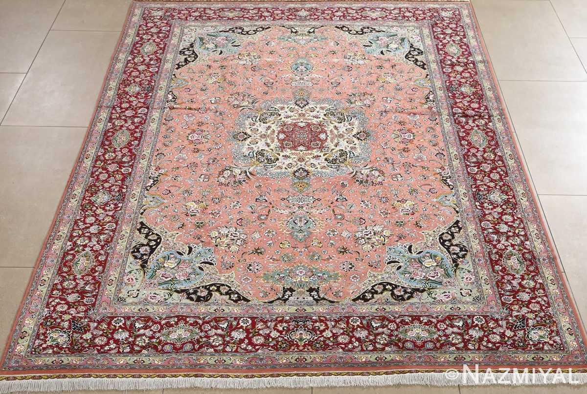fine pournami vintage tabriz persian rug 51025 nazmiyal field