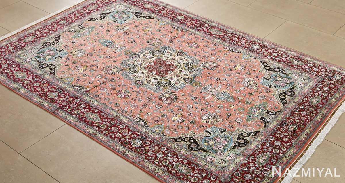 fine pournami vintage tabriz persian rug 51025 nazmiyal side