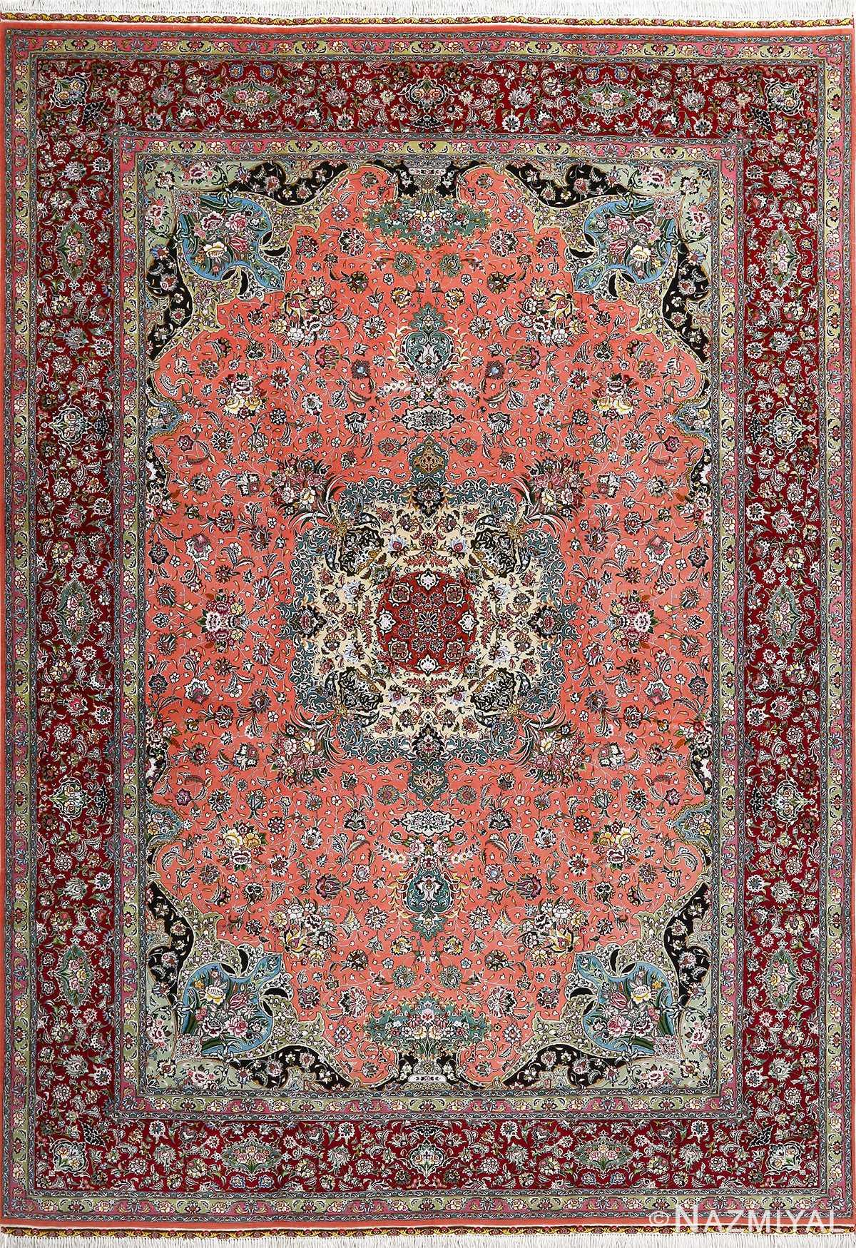 fine pournami vintage tabriz persian rug 51025 Nazmiyal