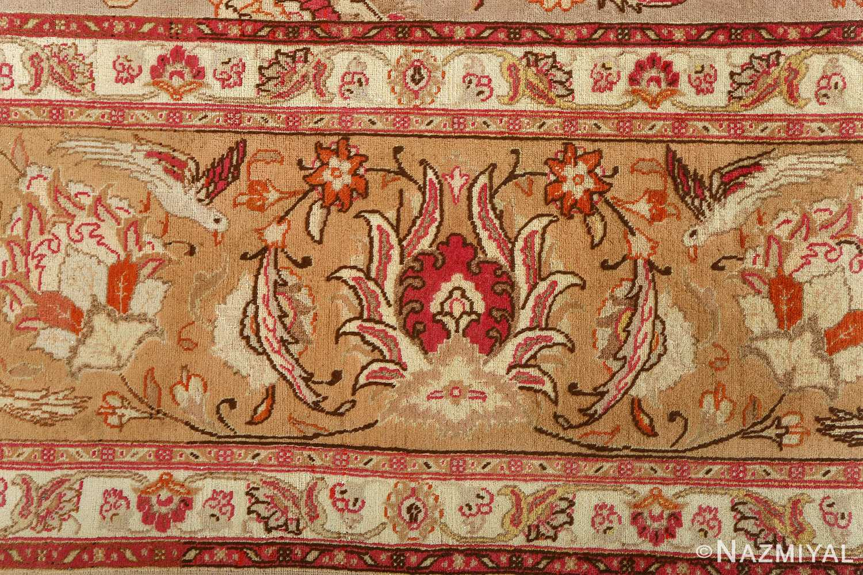 fine samadi animal motif vintage tabriz persian rug 51036 birds Nazmiyal