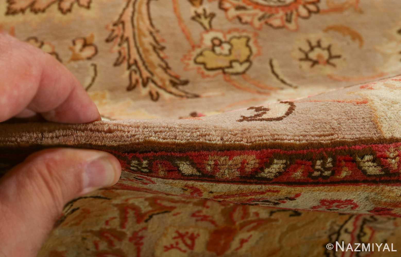 fine samadi animal motif vintage tabriz persian rug 51036 inner pile Nazmiyal