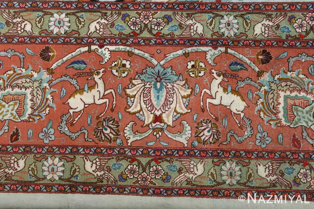 fine samadi vintage tabriz persian rug 51037 border Nazmiyal