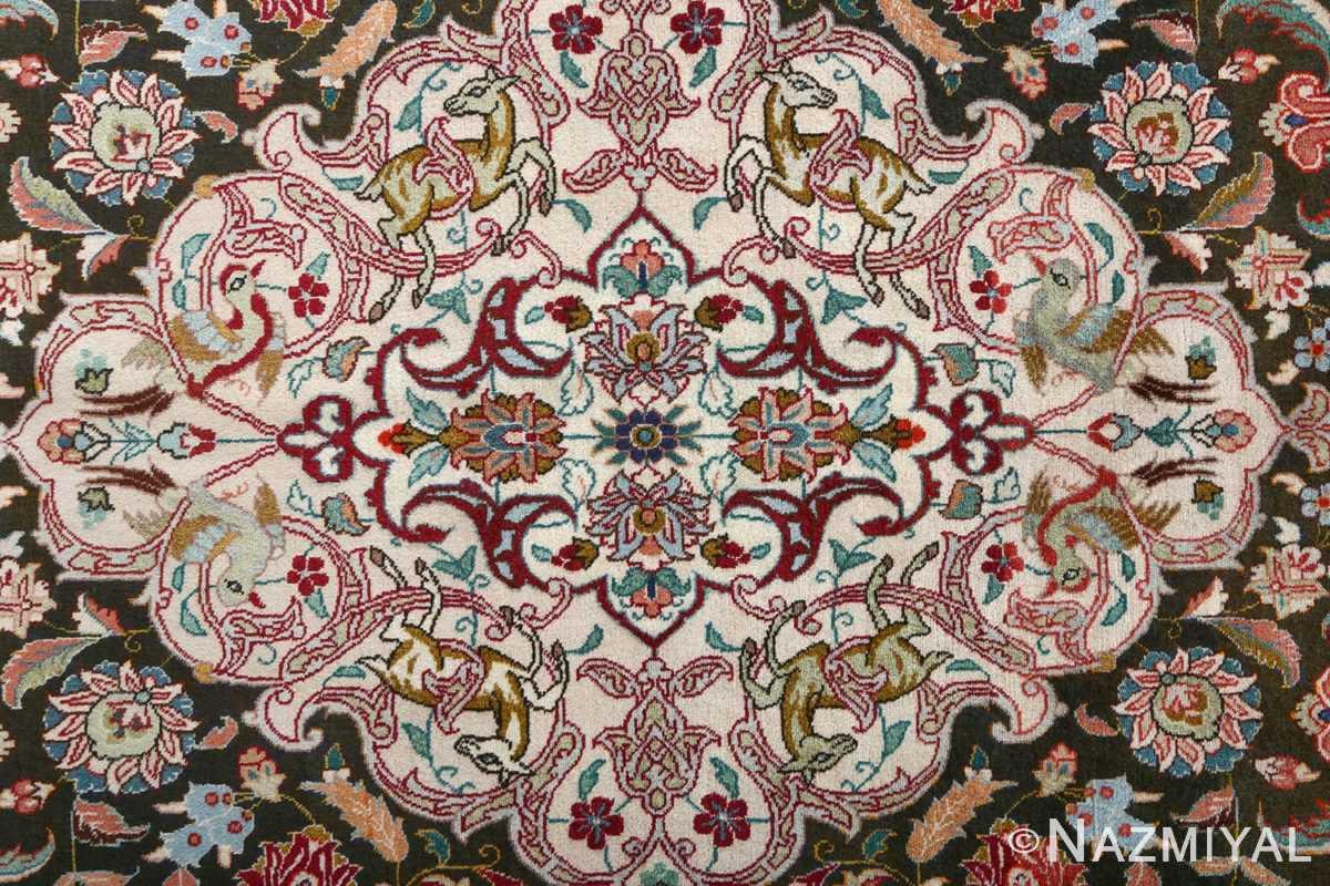 fine samadi vintage tabriz persian rug 51037 center Nazmiyal