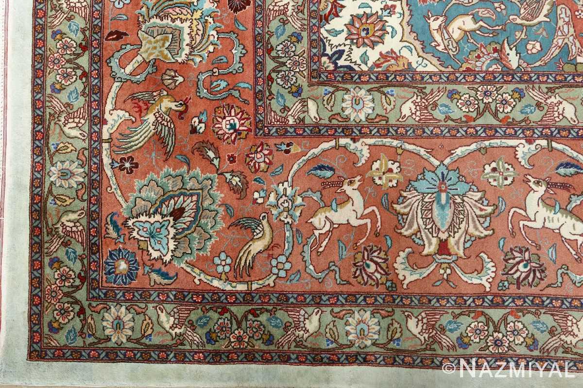 fine samadi vintage tabriz persian rug 51037 corner Nazmiyal