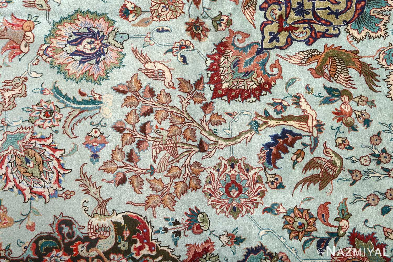 fine samadi vintage tabriz persian rug 51037 detailed Nazmiyal