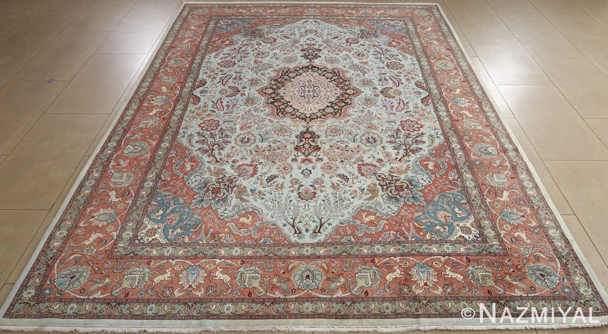 fine samadi vintage tabriz persian rug 51037 full Nazmiyal