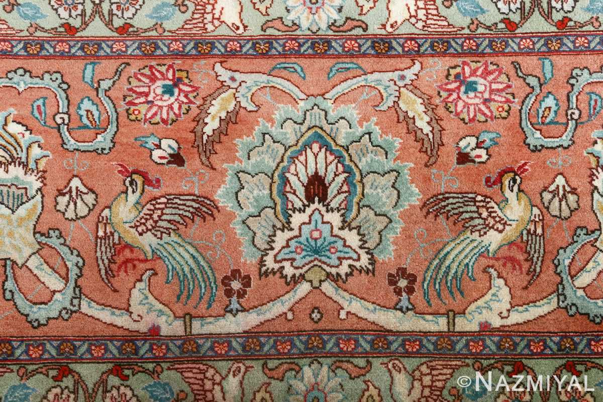 fine samadi vintage tabriz persian rug 51037 peacock Nazmiyal