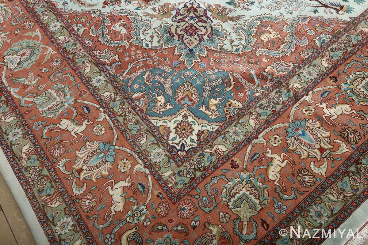 fine samadi vintage tabriz persian rug 51037 peony Nazmiyal