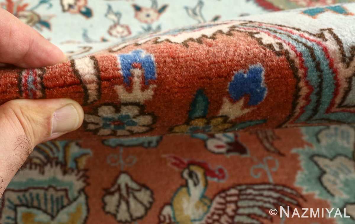 fine samadi vintage tabriz persian rug 51037 pile Nazmiyal