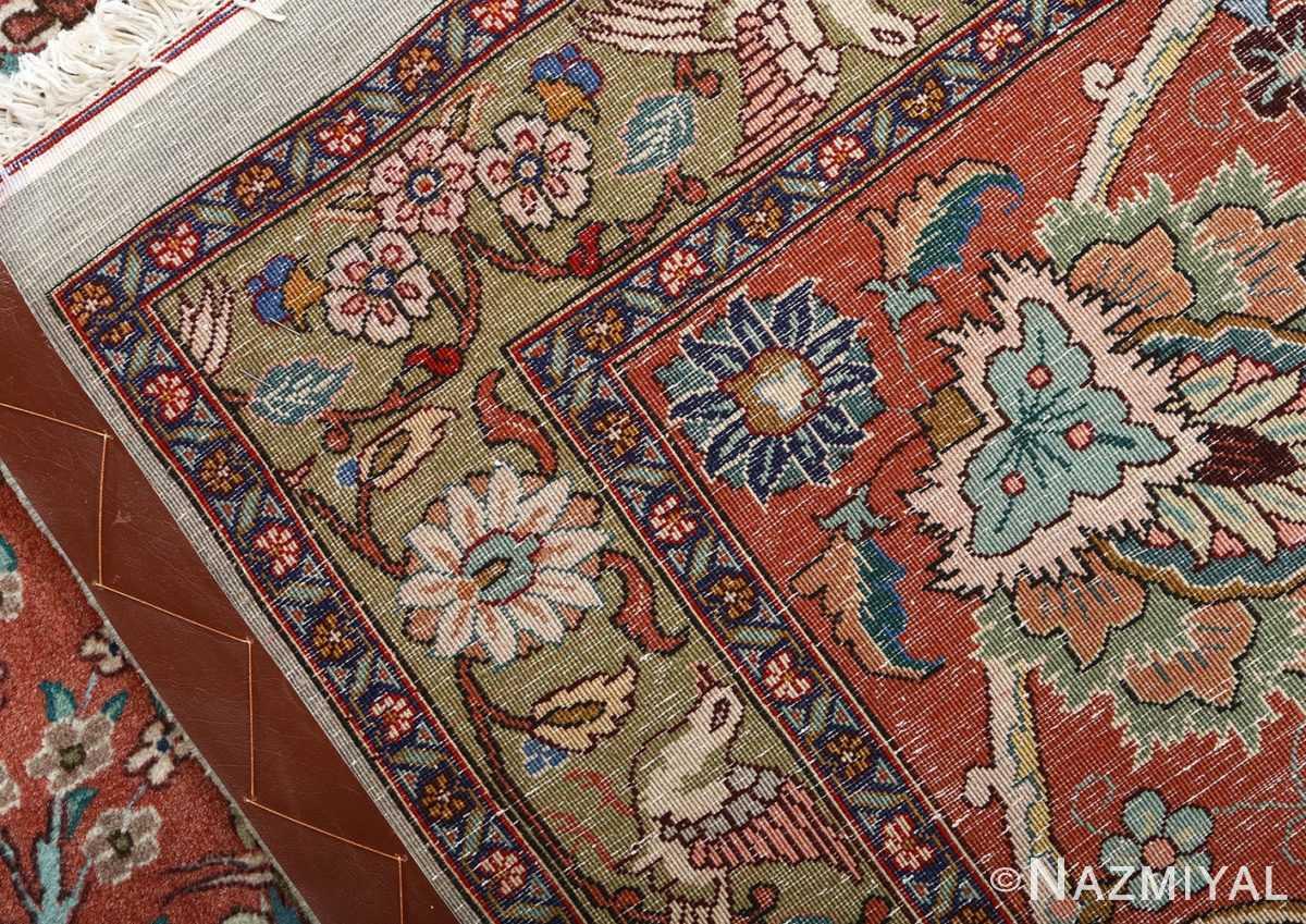 fine samadi vintage tabriz persian rug 51037 weave Nazmiyal