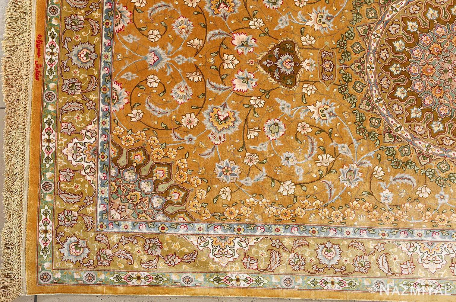 fine shahsavarpour design vintage tabriz persian rug 51044 corner Nazmiyal