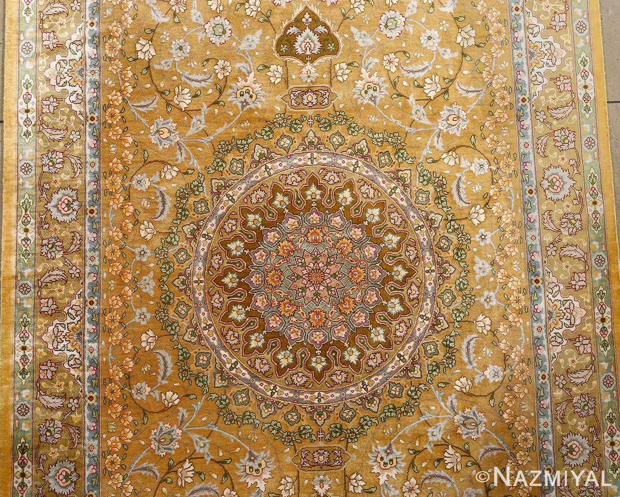 fine shahsavarpour design vintage tabriz persian rug 51044 medallion Nazmiyal