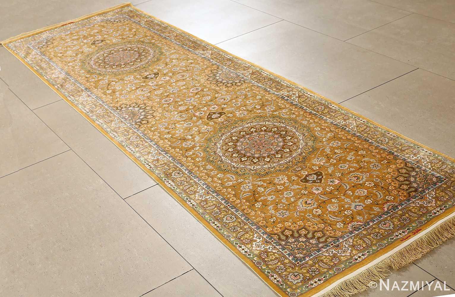fine shahsavarpour design vintage tabriz persian rug 51044 side Nazmiyal