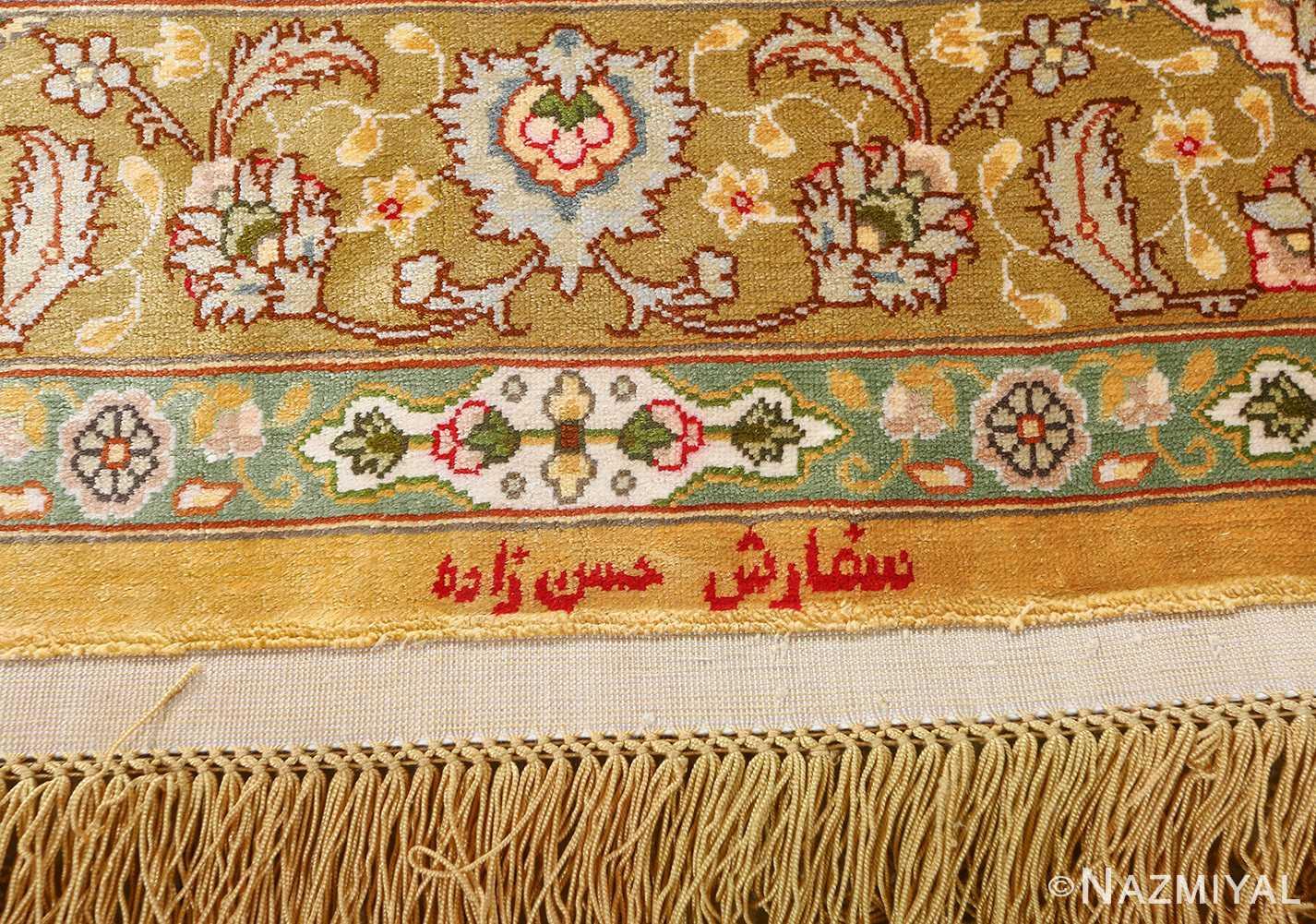 fine shahsavarpour design vintage tabriz persian rug 51044 signature Nazmiyal