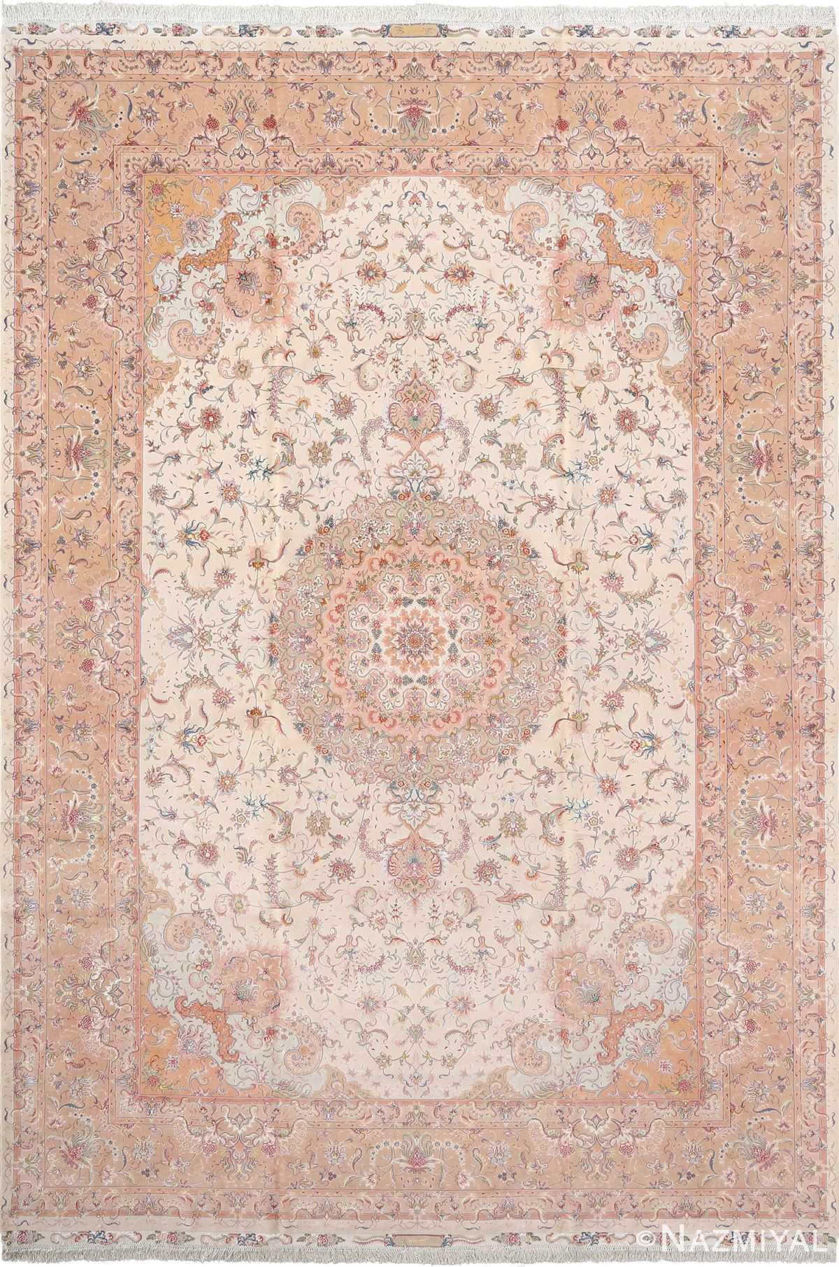 fine shirfar vintage tabriz persian rug 51029 Nazmiyal