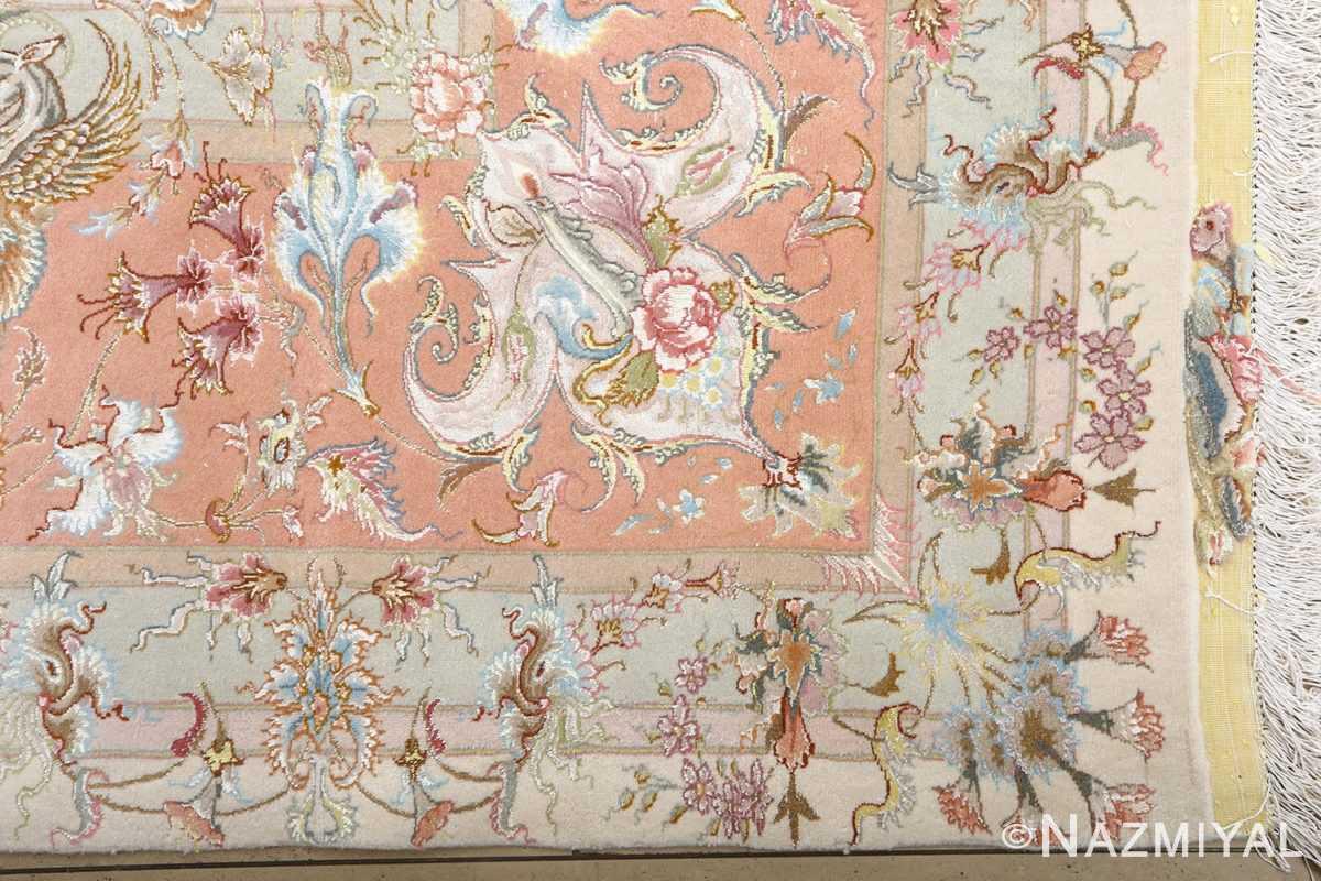 fine shirfar vintage tabriz persian rug 51034 corner Nazmiyal