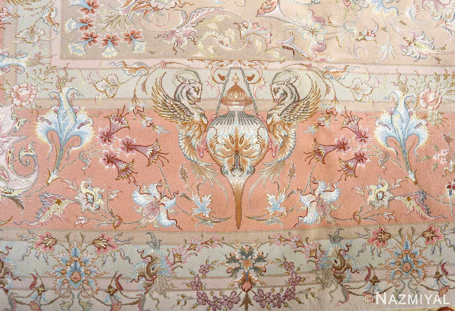 fine shirfar vintage tabriz persian rug 51034 dragon Nazmiyal
