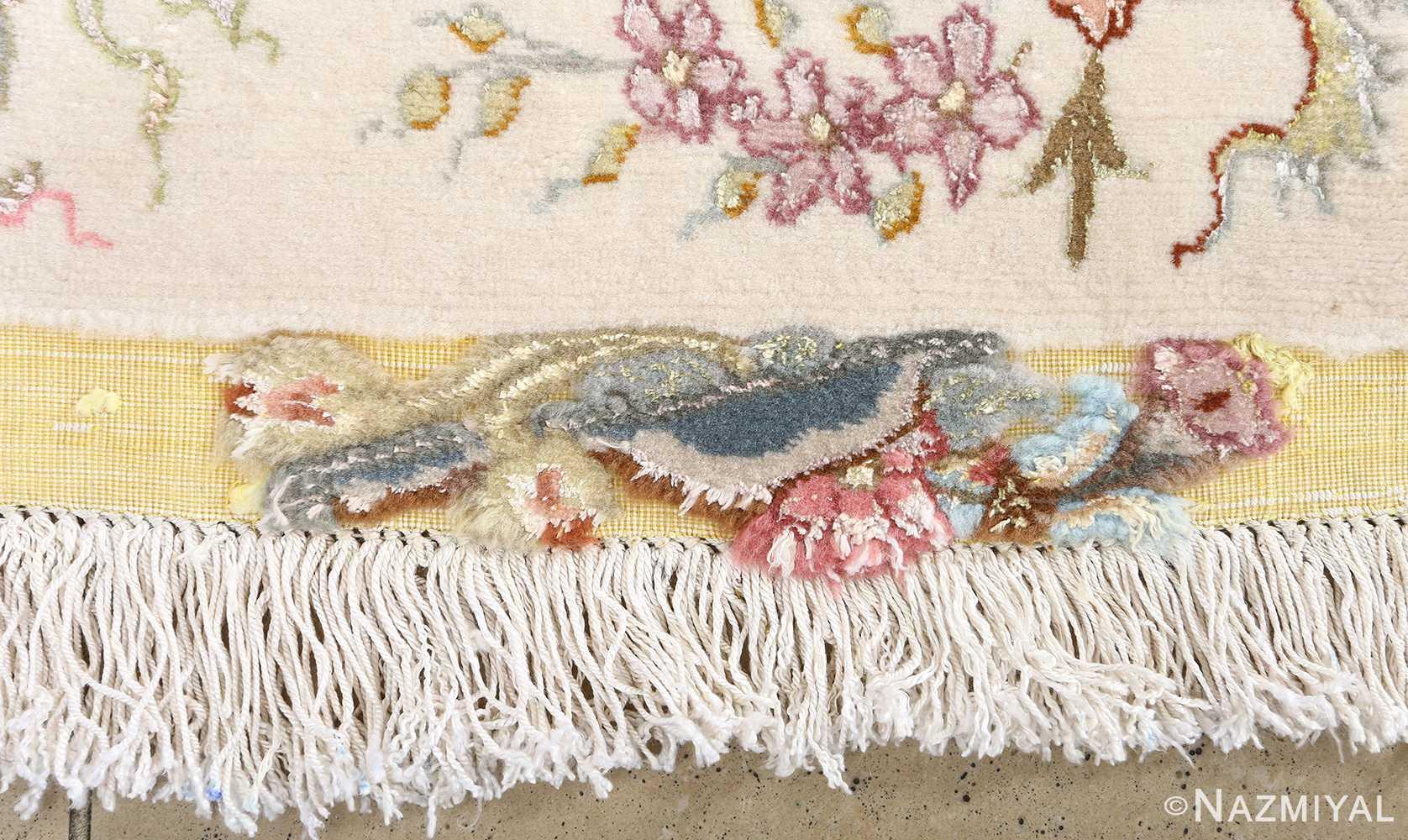 fine shirfar vintage tabriz persian rug 51034 fringe Nazmiyal