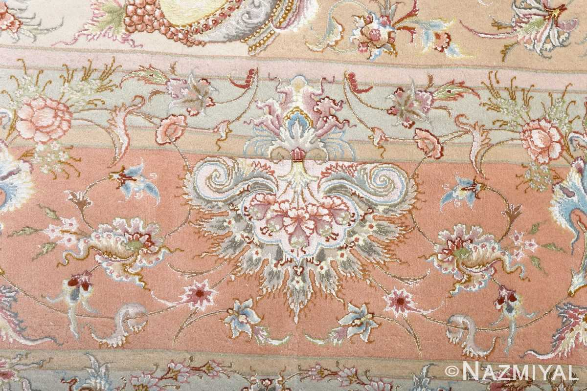 fine shirfar vintage tabriz persian rug 51034 peony Nazmiyal