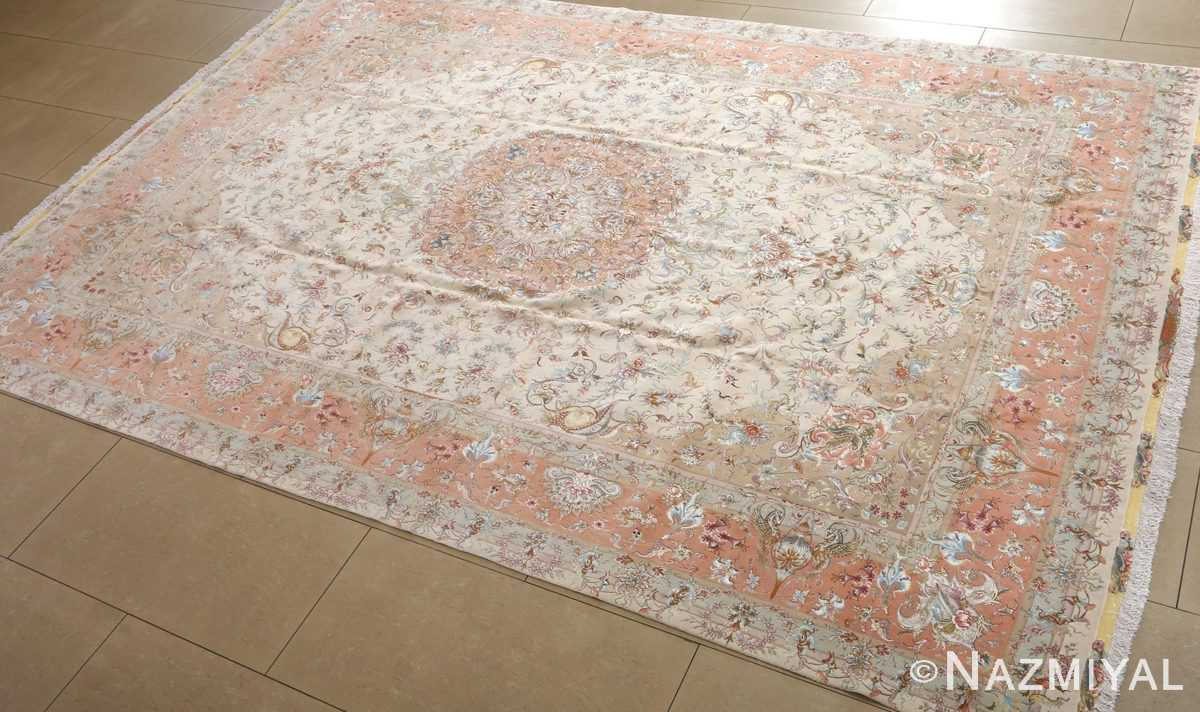 fine shirfar vintage tabriz persian rug 51034 side Nazmiyal