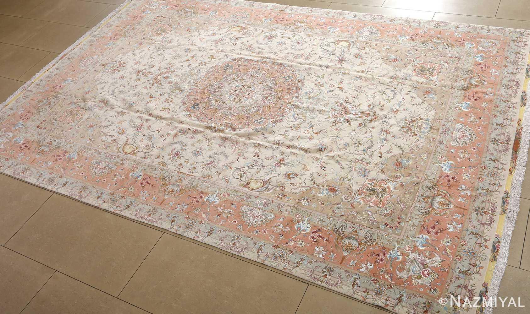 fine shirfar vintage tabriz persian rug 51034 side Nazmiyal