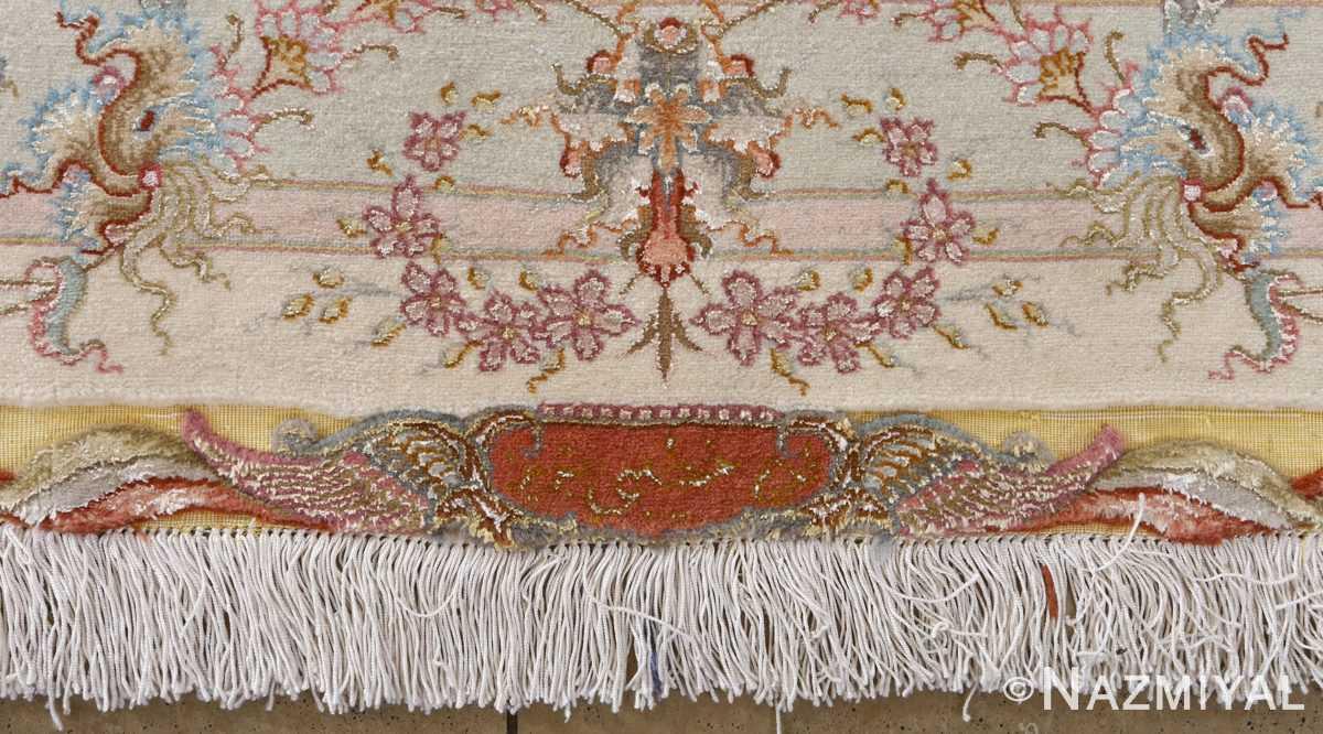 fine shirfar vintage tabriz persian rug 51034 signature Nazmiyal