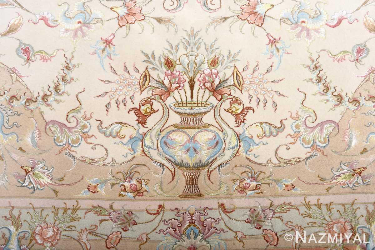 fine shirfar vintage tabriz persian rug 51034 vase Nazmiyal