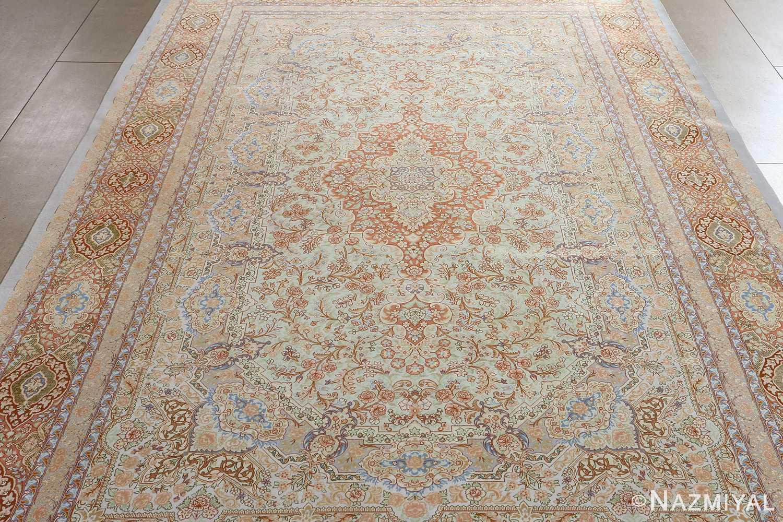 fine silk vintage qum persian rug 51052 full Namziyal