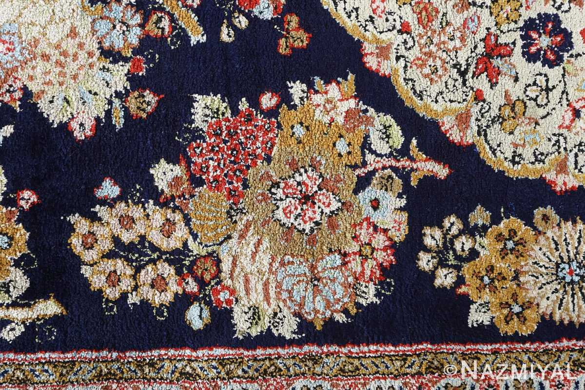 fine silk vintage qum persian rug runner 51059 closeup Nazmiyal