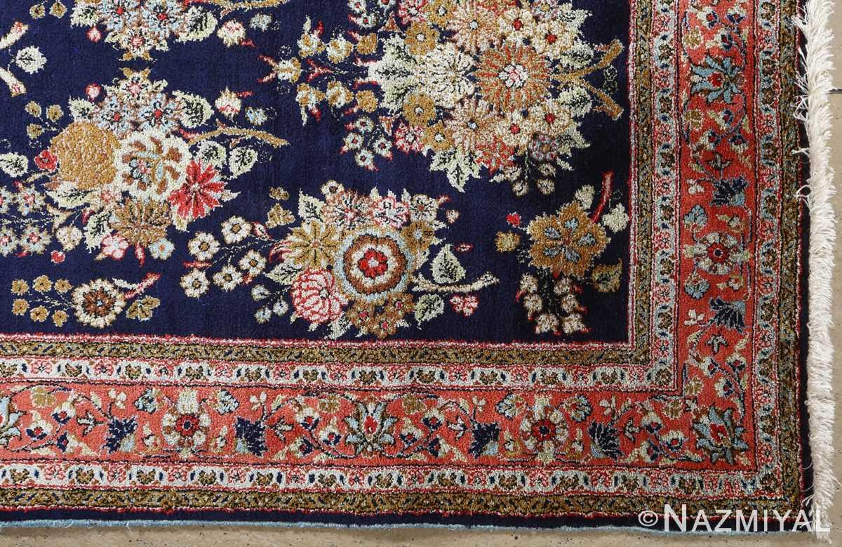 fine silk vintage qum persian rug runner 51059 corner Nazmiyal
