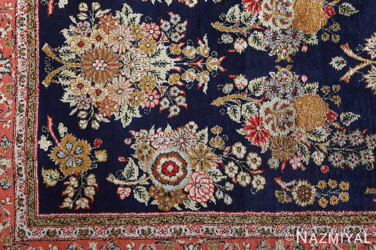 fine silk vintage qum persian rug runner 51059 field Nazmiyal