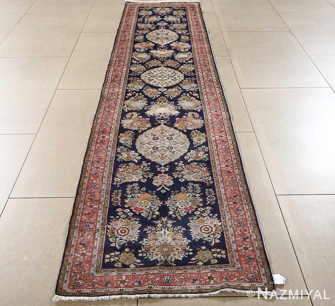fine silk vintage qum persian rug runner 51059 full Nazmiyal