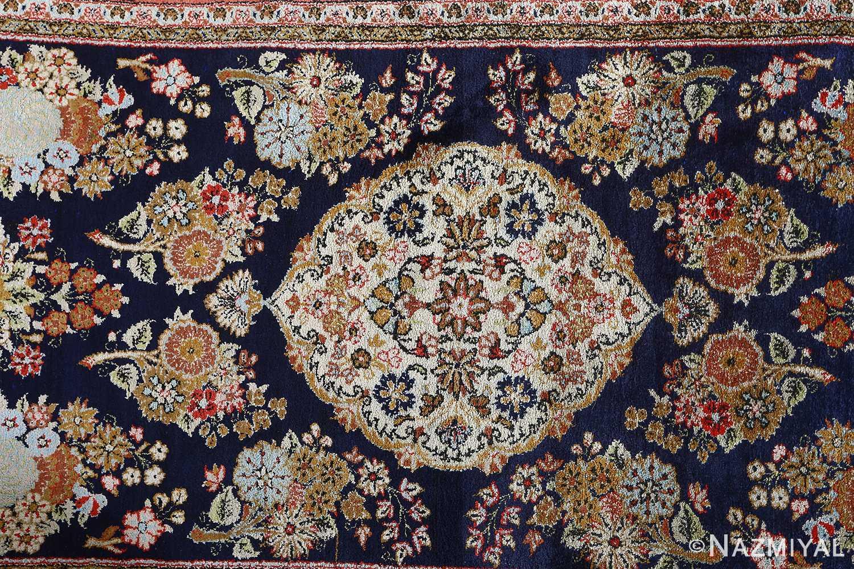 fine silk vintage qum persian rug runner 51059 middle Nazmiyal