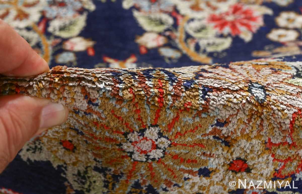 fine silk vintage qum persian rug runner 51059 pile Nazmiyal