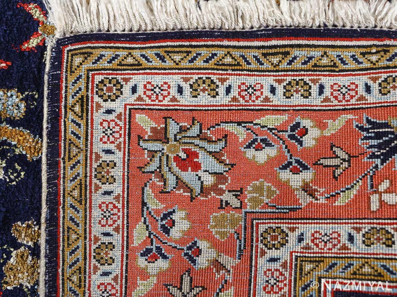 fine silk vintage qum persian rug runner 51059 weave Nazmiyal
