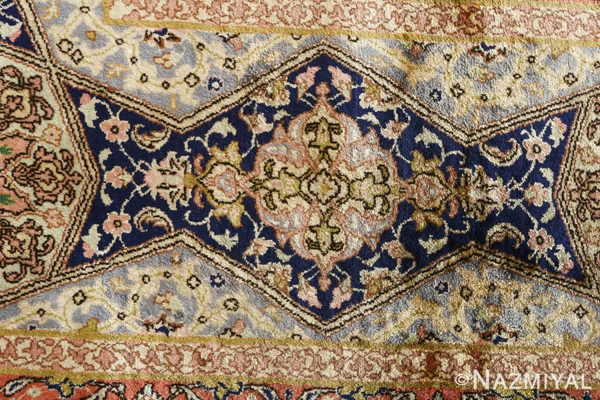 fine square gonbad design vintage silk tabriz persian rug 51050 design Nazmiyal