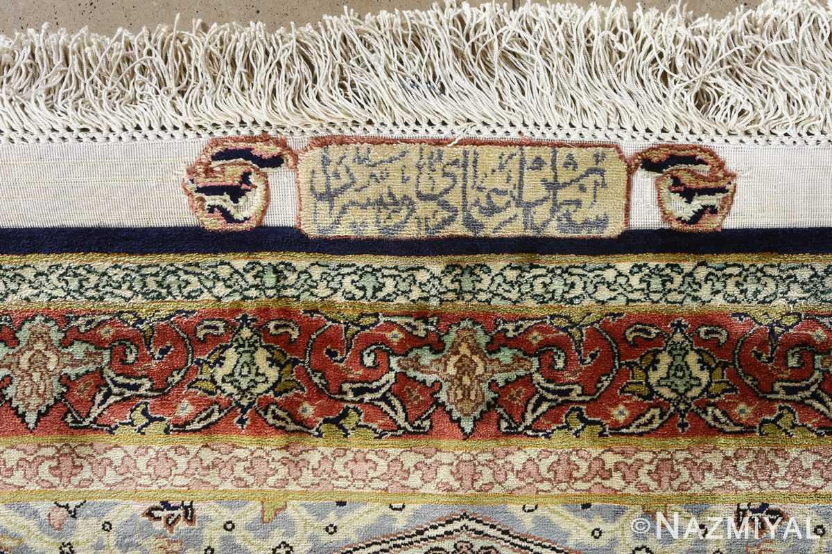 fine square gonbad design vintage silk tabriz persian rug 51050 ordered Nazmiyal